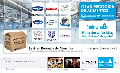 Página de Facebook de la Gran Recogida de Alimentos
