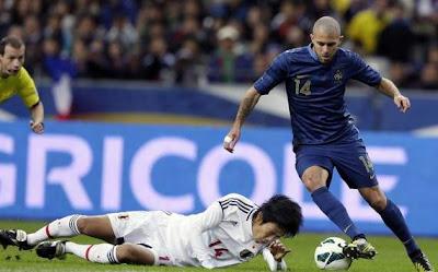 Hasil Pertandingan dan Cuplikan Video Prancis vs Jepang Tadi Malam