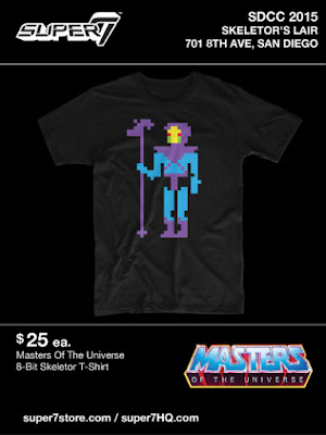 San Diego Comic-Con 2015 Exclusive Masters of the Universe T-Shirt Collection by Super7 x Mattel - 8-Bit Skeletor