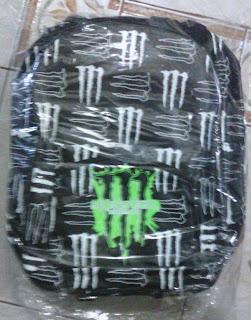 tas hitam untuk sekolah corak M