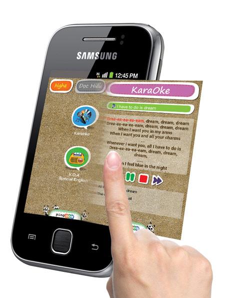 ứng dụng học tiếng anh trên Galaxy Y, thế giới di động an vinh,