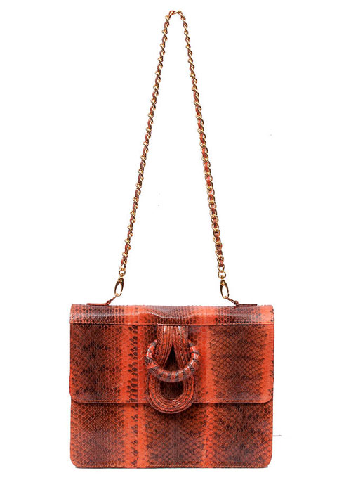 via fashionedbylove | chest london aphrodite snakeskin exotic leather shoulder bag