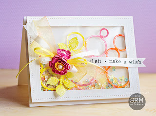 SRM Stickers Blog - Make A Wish by Michele - #card #shakercard #birthday #stickers #michelekovack