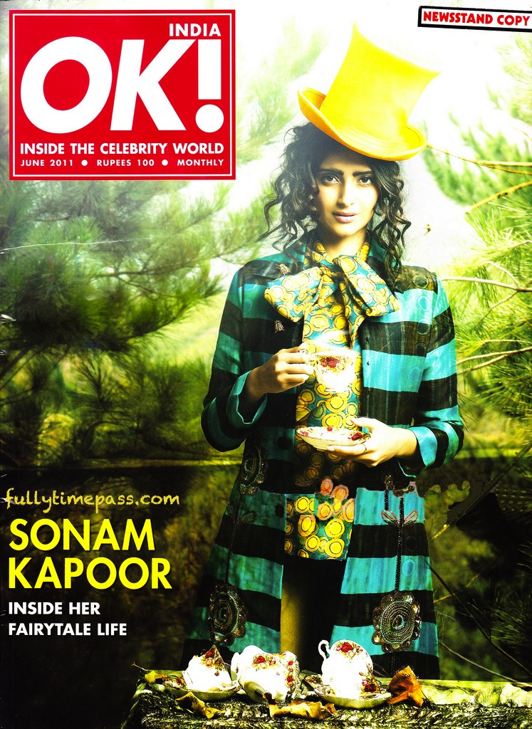 Sonam Kapoor on the cover of Ok Magazine June 2011