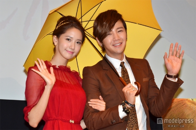 "Yoona and Jang Geun Suk ""LOVE RAIN"" Japan Press Conference"