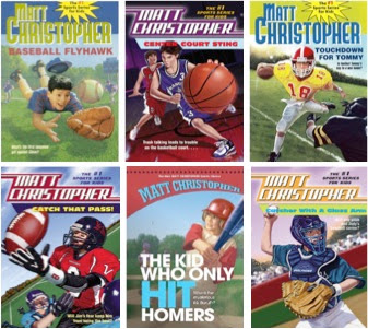 a sample of bookcovers from MATT CHRISTOPHER'S Sports Books