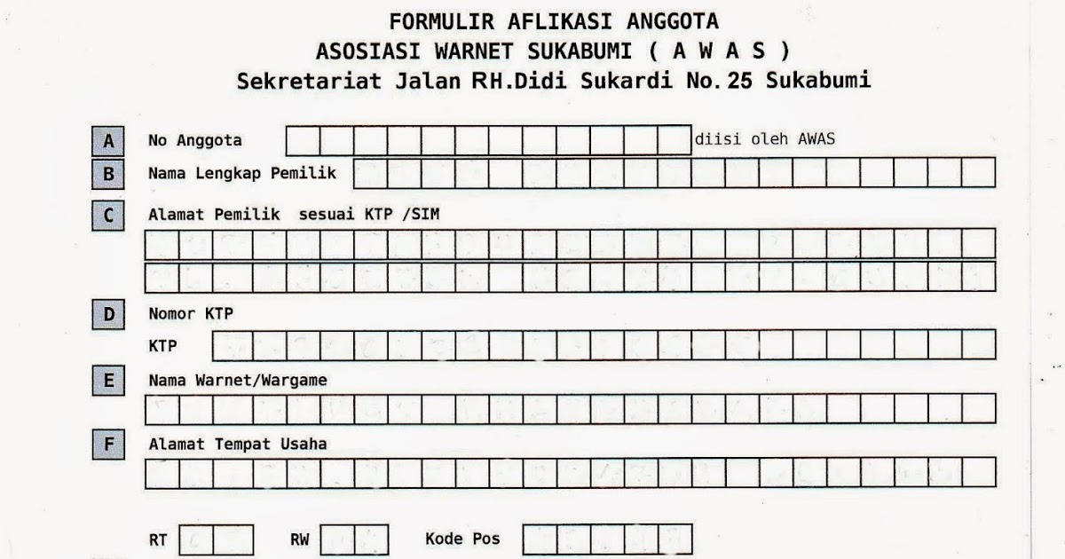 Contoh Format Formulir Pendaftaran Sekolah Mei 2015