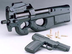 Fn P90 with 57 handgun