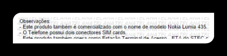 Lumia 435 details