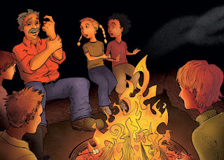 camping stories around the campfire