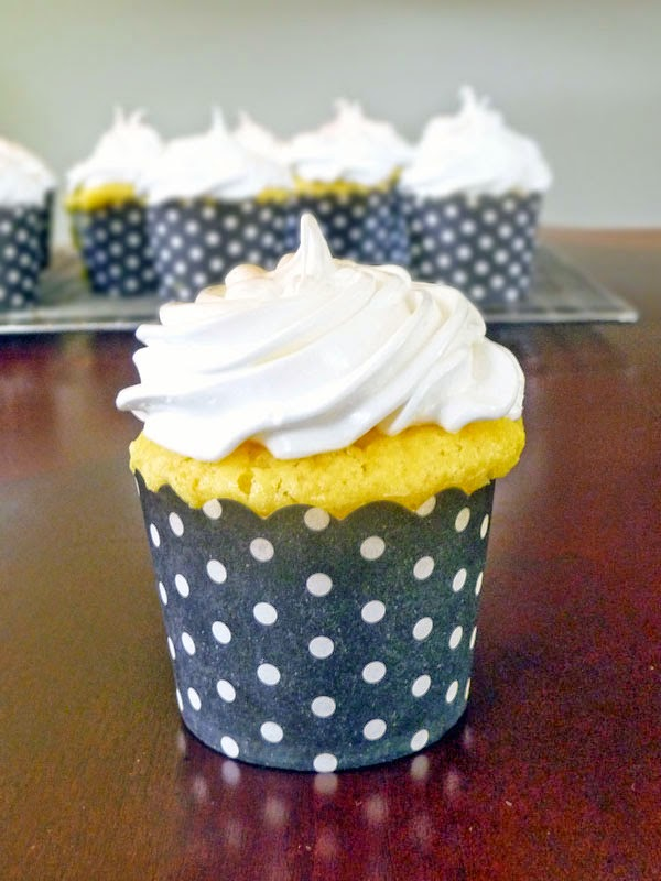 Lemon Cupcakes with Cream Cheese Frosting | by Life Tastes Good #cakemix #yellow