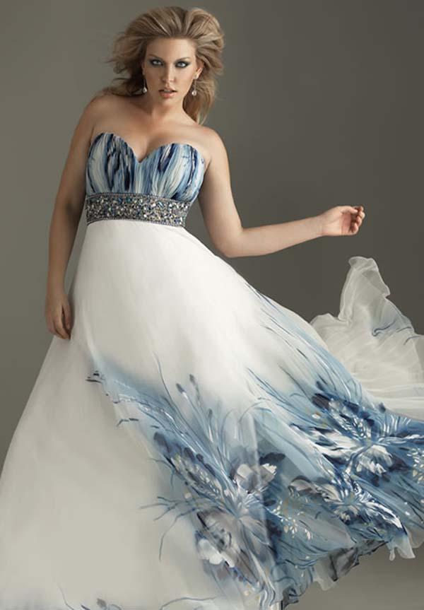 Best plus size wedding dress designers with blue top - Best Wedding ...