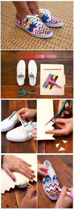 Hazlo Tú Mismo : Como darle un toque nuevo a tus viejas zapatillas