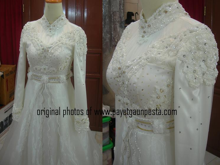 Payet gaun pesta desain baju pesta kebaya modern dan gaun pengantin