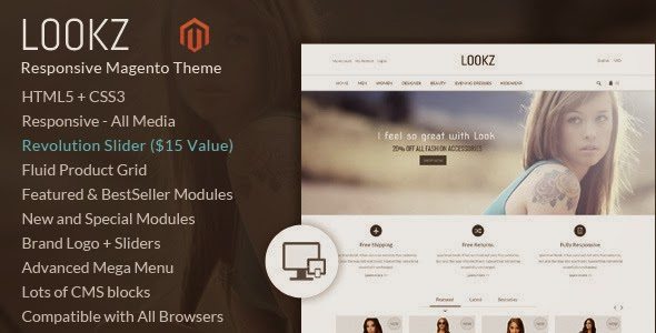 New Responsive Magento template