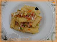 Rigatoni pacetta zucchine e mozzarella