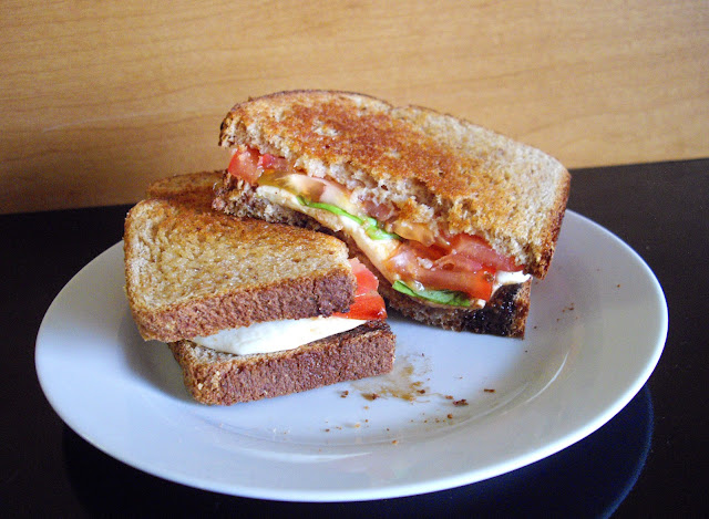 Grilled Caprese Sandwich with Balsamic Reduction
