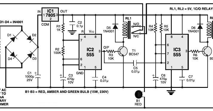 nte electronics circuit  traffic light controller