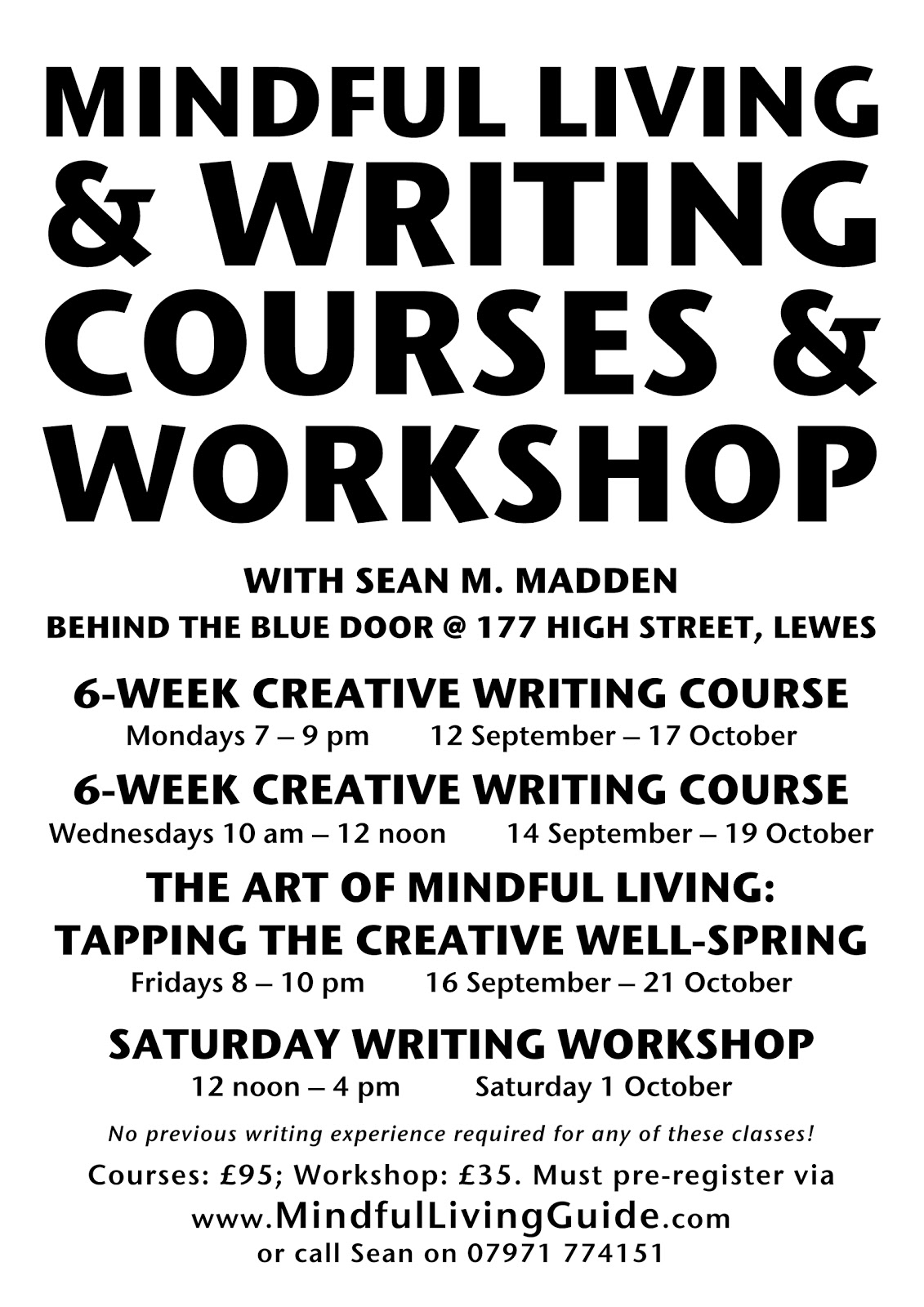 short courses on creative writing