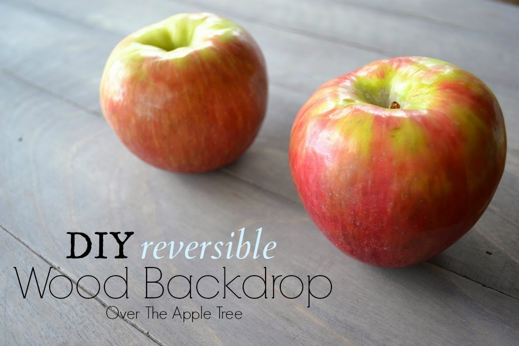 DIY reversible wood backdrop, Over The Apple Tree