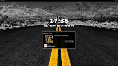 gnome shell lock screen notifications