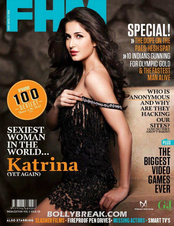 Katrina Kaif FHM July 2012 Cover Pic - Katrina Kaif FHM July 2012 Cover Page Scan
