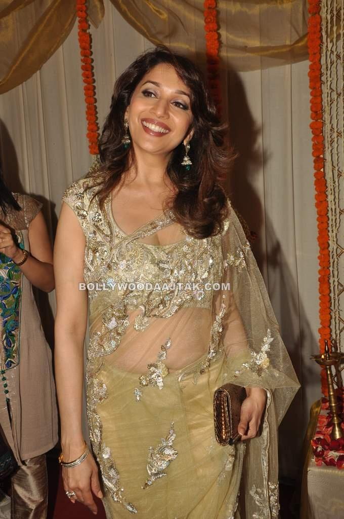 , Hot Madhuri At Dr Abhishek And Dr Shefali Wedding Reception