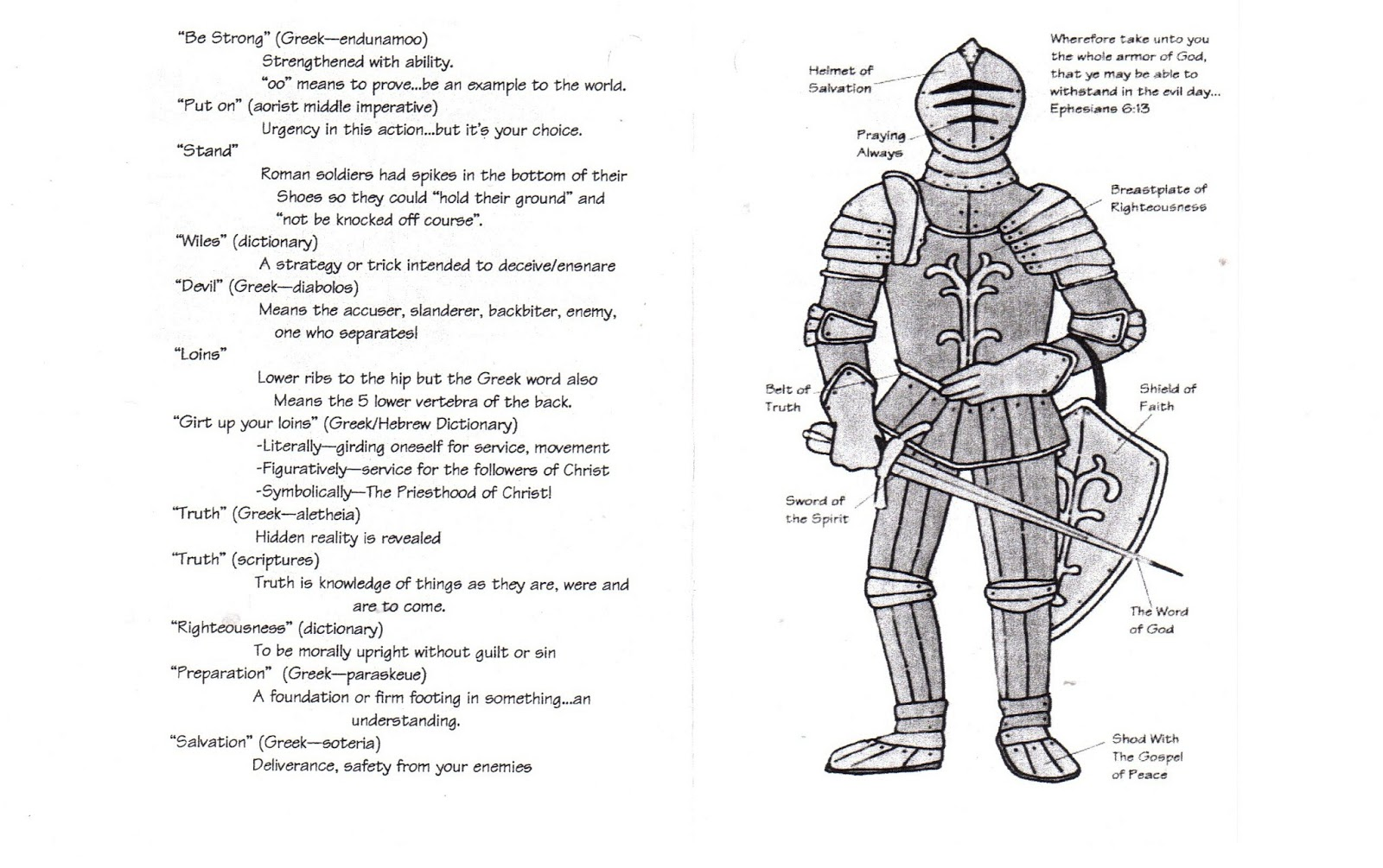 mormon share nt ephesians 6 armour of god