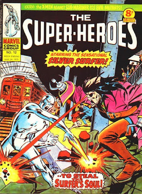 Marvel UK, The Super-Heroes #12, Silver Surfer vs the Ghost