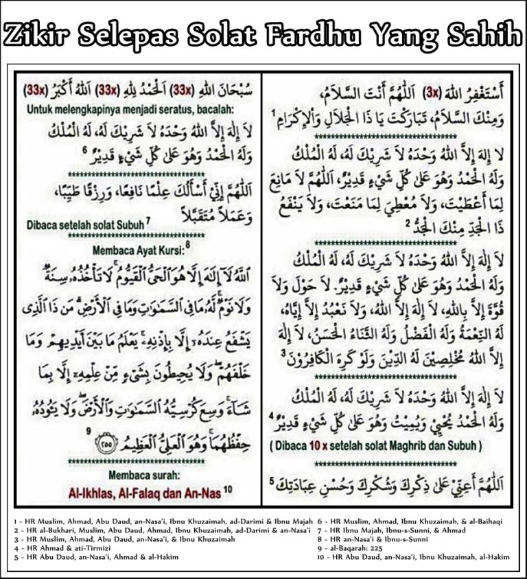 Doa Dan Zikir Selepas Solat Pdf Telegraph