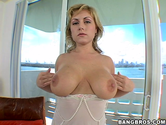 Sexy Blonde With Huge Tits