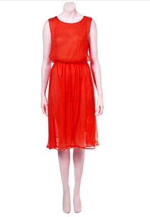 Round neck taffeta red mini under 100 gbp casual yellow dress