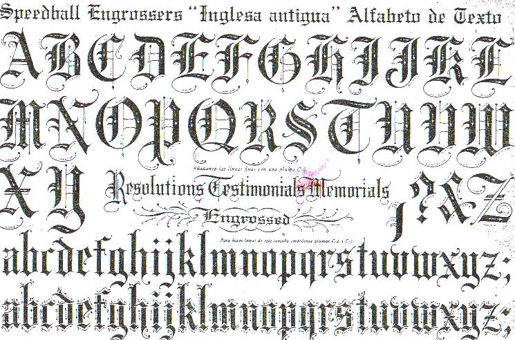 Plantilla de letras goticas para imprimir - Imagui