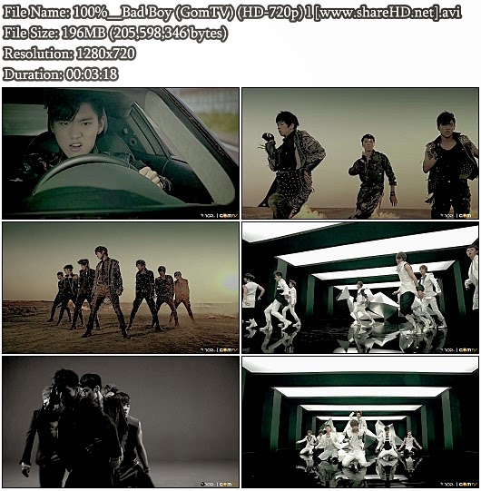 Download MV 100% - Bad Boy (GomTV HD 720p)