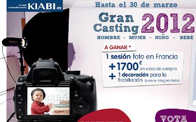 GRAN CASTING 2012 DE KIABI MODELO INFANTIL BEBE NIÑO MUJER HOMBRE