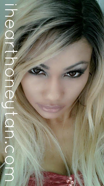 Honey Tan Black Gyaru Ulzzang wearing  Freetress Equal Synthetic Lace Front Deep Invisible Part Bently Wig