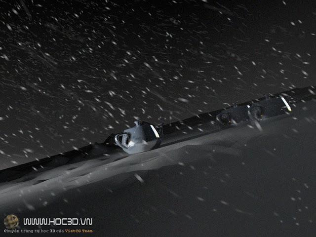học 3d | cảnh tuyết rơi trong 3ds max | cảnh tuyết 3ds max