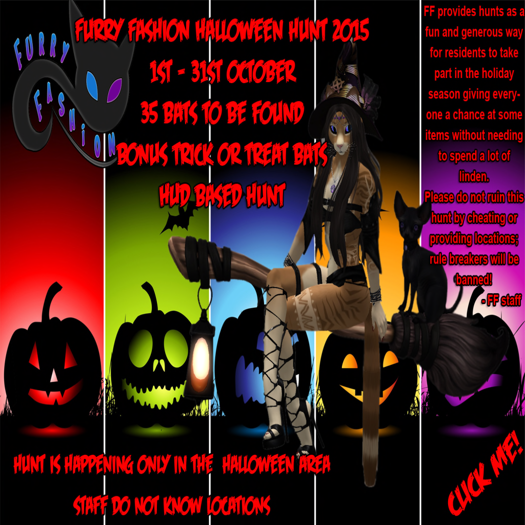 second life newser: the furry fashion halloween hunt