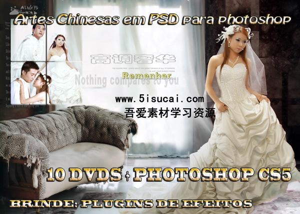... Chinesas em PSD 2011, plugins especiais de efeitos + Photoshop CS5