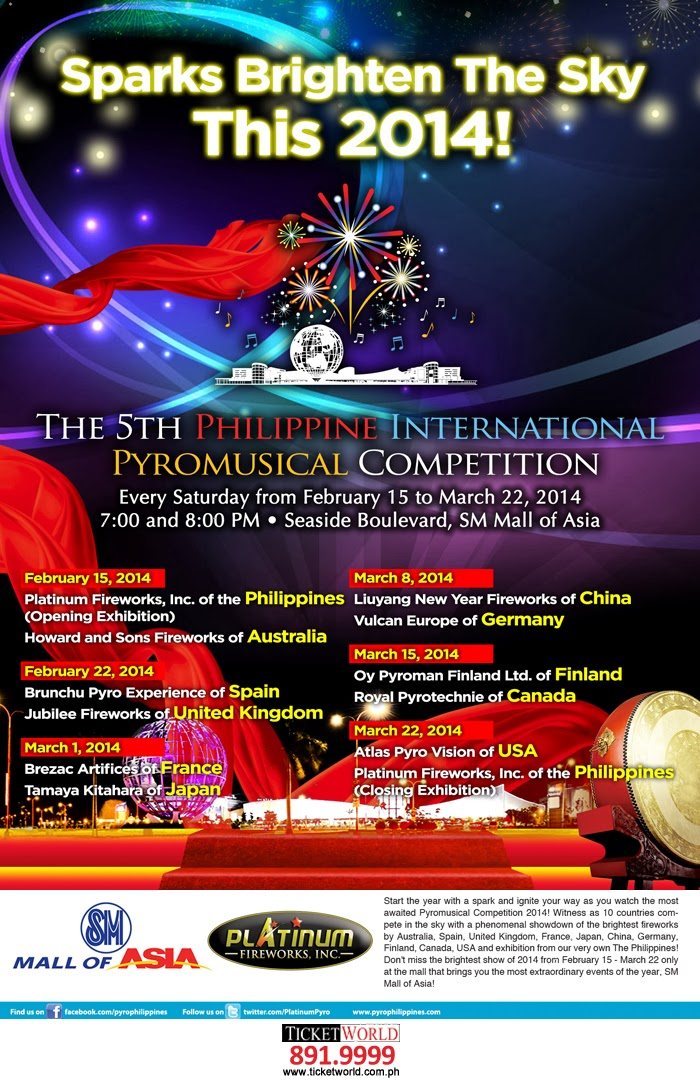 5th Philippine International Pyromusical Competition Poster