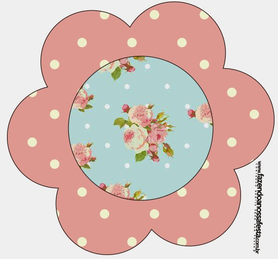 Shabby Chic In Pink And Light Blue Free Printable