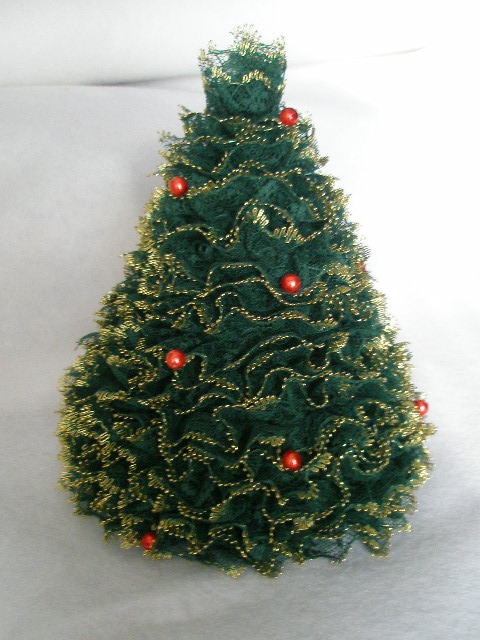 Knitted Christmas Tree Hat Pattern : Miss Julias Patterns: Free Patterns - Lace Projects to Knit & Crochet