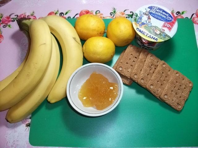 Лёгкий торта из бананов
