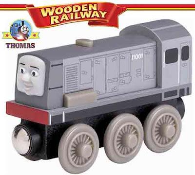 Scale model Thomas wooden toy train set Southern Railway shunter diesel engine Dennis locomotive