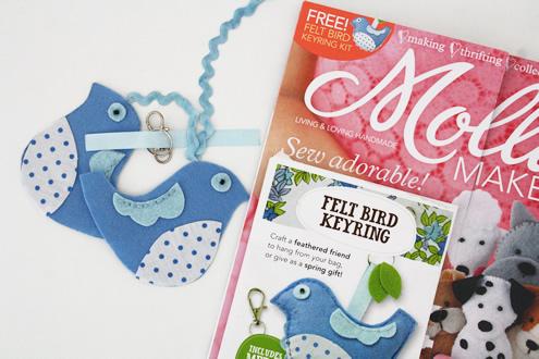 Mollie Makes felt bird