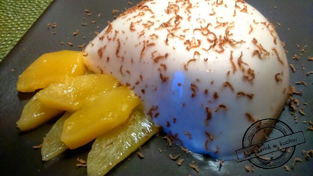 Panna cotta z mango szybki deser na niedzielę blog roku 2014 mechanik wkuchni