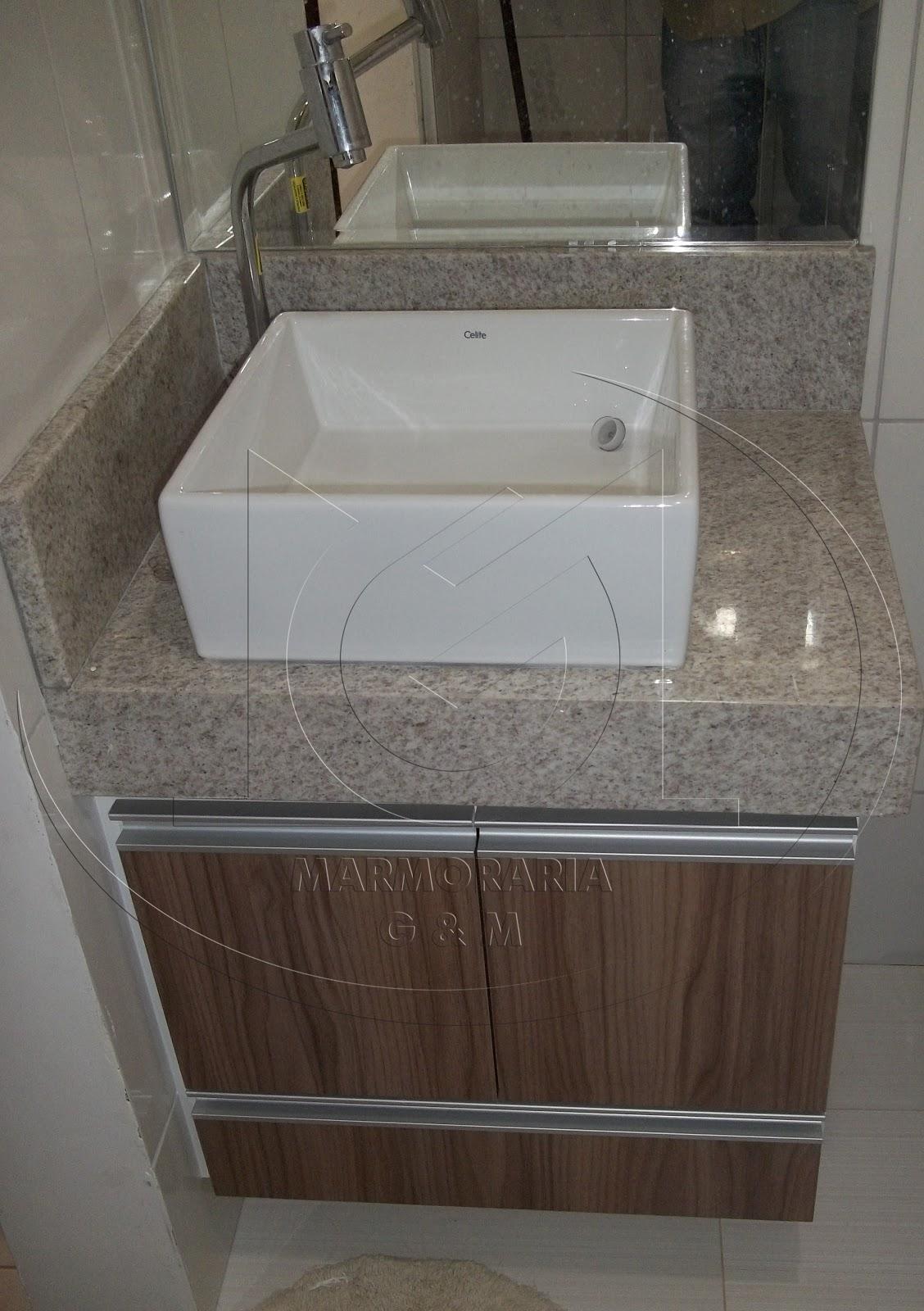 Lavatório em Granito Branco Siena Marmoraria Goiás e Minas #3F352E 1128x1600 Banheiro Branco Siena