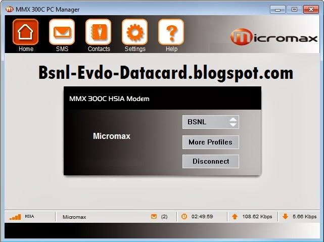 BSNL EVDO Data Card Software