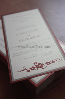 Oriental flower wedding invitation