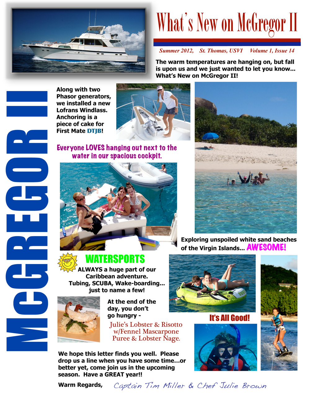 All About Yacht Charters, Sailing Vacations: Charter Yacht McGregor ...